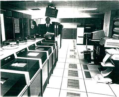 SJU Multics computer room, 1981